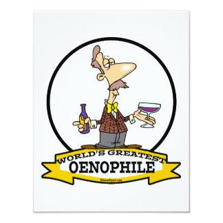 WORLDS GREATEST OENOPHILE CARTOON CARD