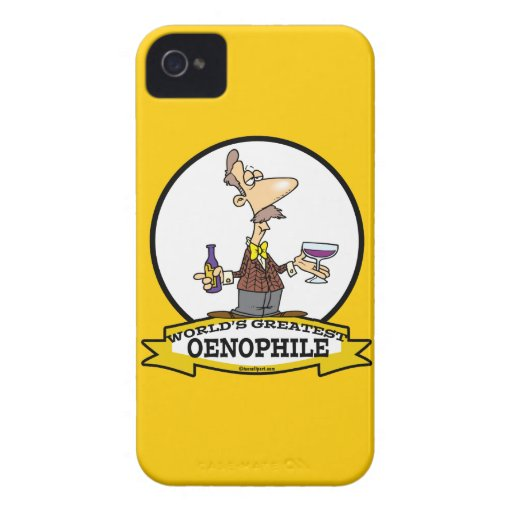 WORLDS GREATEST OENOPHILE CARTOON iPhone 4 COVER