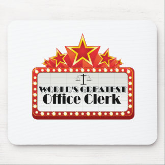 World's Greatest Office Clerk Mouse Pad