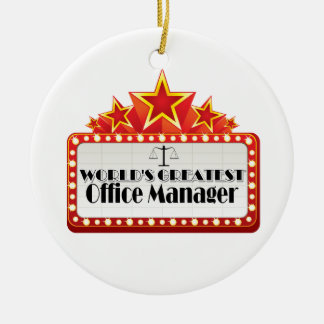 World's Greatest Office Manager Ceramic Ornament