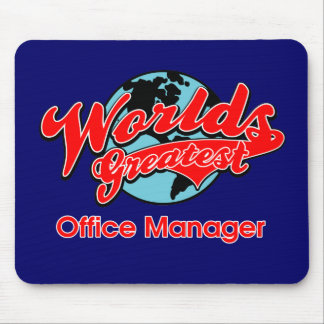 World's Greatest Office Manager Mouse Pad