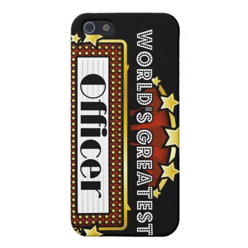 World's Greatest Officer iPhone 5 Cases
