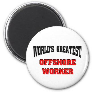 World's Greatest Offshore Worker Refrigerator Magnet