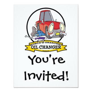 WORLDS GREATEST OIL CHANGER MEN CARTOON CARD