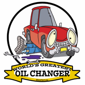 WORLDS GREATEST OIL CHANGER MEN CARTOON PHOTO CUT OUT