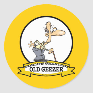 WORLDS GREATEST OLD GEEZER CARTOON STICKERS