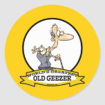 WORLDS GREATEST OLD GEEZER CARTOON STICKERS