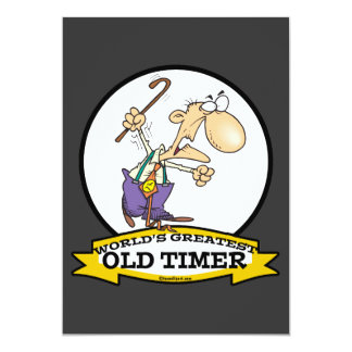 WORLDS GREATEST OLD TIMER CARTOON PERSONALIZED INVITE