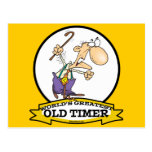 WORLDS GREATEST OLD TIMER CARTOON POSTCARD