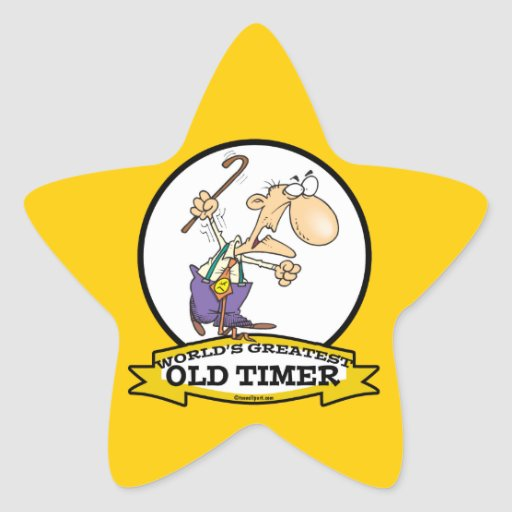 WORLDS GREATEST OLD TIMER CARTOON STICKER