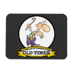 WORLDS GREATEST OLD TIMER CARTOON VINYL MAGNETS