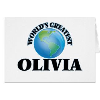 World's Greatest Olivia Card