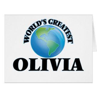 World's Greatest Olivia Greeting Card