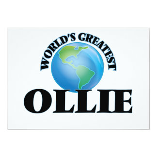 World's Greatest Ollie Personalized Announcements