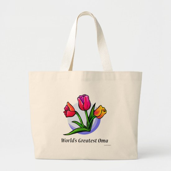 World's Greatest Oma Large Tote Bag