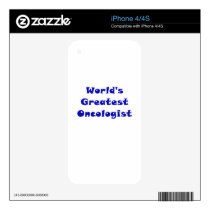 Worlds Greatest Oncologist Decal For iPhone 4