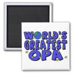 World's Greatest Opa 2 Inch Square Magnet
