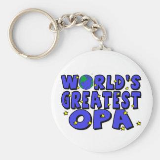 World's Greatest Opa Keychain