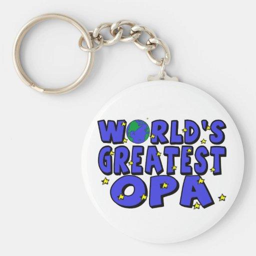 World's Greatest Opa Keychains