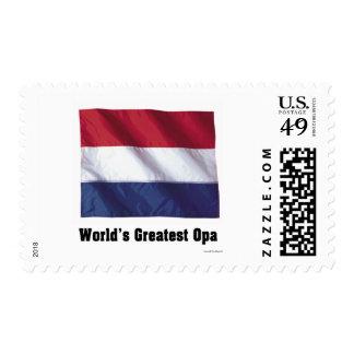 World's Greatest Opa Postage Stamp