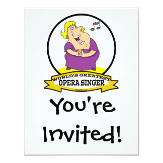 WORLDS GREATEST OPERA SINGER FAT LADY CARTOON CARD