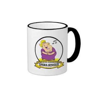 WORLDS GREATEST OPERA SINGER FAT LADY CARTOON COFFEE MUG
