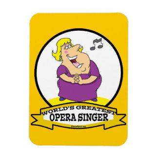 WORLDS GREATEST OPERA SINGER FAT LADY CARTOON RECTANGULAR MAGNET