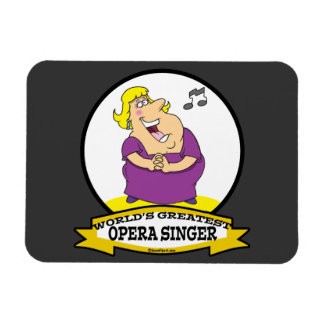 WORLDS GREATEST OPERA SINGER FAT LADY CARTOON VINYL MAGNETS