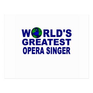 World's Greatest Opera Singer Postcard