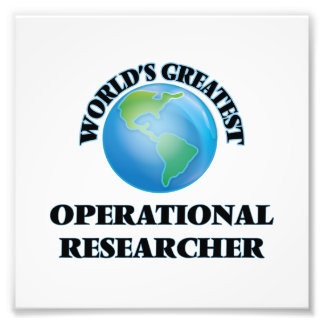 World's Greatest Operational Researcher Photograph