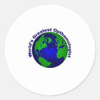World's Greatest Opthalmologist Classic Round Sticker