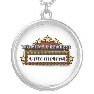 World's Greatest Optometrist Round Pendant Necklace