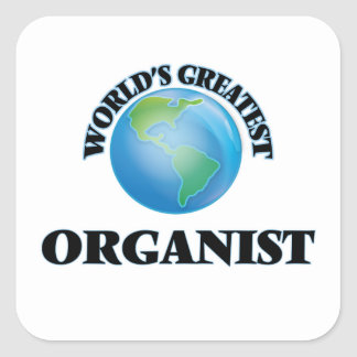 World's Greatest Organist Square Stickers