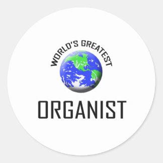 World's Greatest Organist Round Sticker