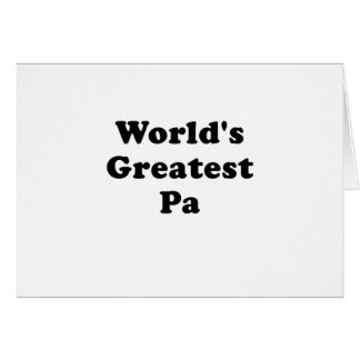 Worlds Greatest Pa Card