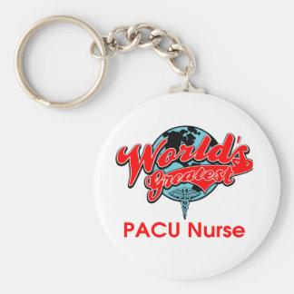 World's Greatest PACU Nurse Basic Round Button Keychain