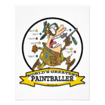 WORLDS GREATEST PAINTBALLER MEN CARTOON PERSONALIZED ANNOUNCEMENT