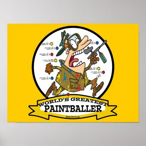 WORLDS GREATEST PAINTBALLER MEN CARTOON POSTER