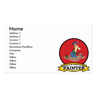 WORLDS GREATEST PAINTER MEN CARTOON Double-Sided STANDARD BUSINESS CARDS (Pack OF 100)