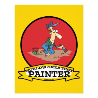 WORLDS GREATEST PAINTER MEN CARTOON FLYER