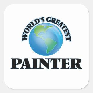 World's Greatest Painter Square Sticker
