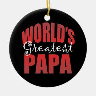 Worlds Greatest Pap Ceramic Ornament