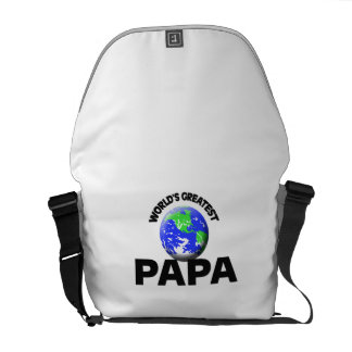 World's Greatest Papa Courier Bag