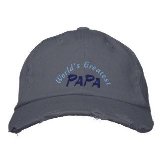 World's Greatest Papa Distressed Cap