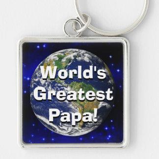 World's Greatest Papa! Keychain