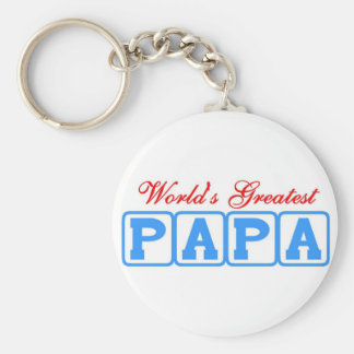 World's greatest papa keychain