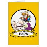 WORLDS GREATEST PAPA MEN CARTOON GREETING CARD