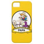 WORLDS GREATEST PAPA MEN CARTOON iPhone 5 CASES