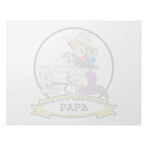 WORLDS GREATEST PAPA MEN CARTOON SCRATCH PADS