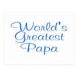Worlds Greatest Papa Postcard